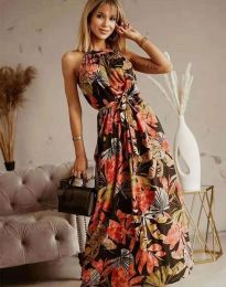 Дълга рокля с атрактивен десен - код 2964 - 8