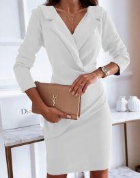 Елегантна рокля в бяло - код 4159
