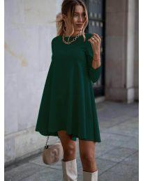 Свободна рокля в маслено зелено - код 371