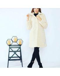Дамско палто в бяло - код 1615