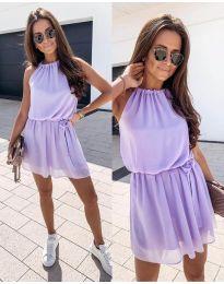 Ефирна дамска рокля в лилаво - код 513