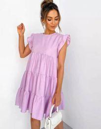 Свободна рокля в лилаво - код 2666