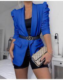 Дамско елегантно сако в синьо - код 680
