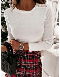 Дамска блуза в бяло - код 4244