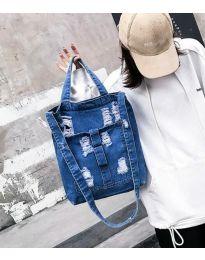 Дамска дънкова чанта в синьо - код B580