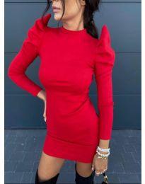Стилна рокля по тялото в червено - код 1504