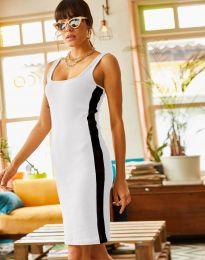 Спортна рокля в бяло - код 1253