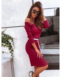 Дамска рокля в бордо - код 4720