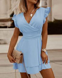 Ефирна дамска рокля в светлосиньо - код 5654