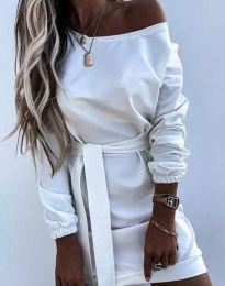 Дамска рокля в бяло - код 2409