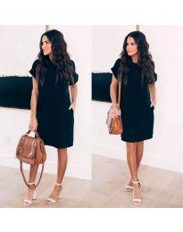 Свободна дамска рокля черно - код 659
