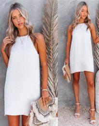 Свободна дамска рокля в бяло - код 2169