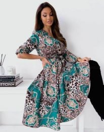 Стилна дамска рокля - код 6027 - 3