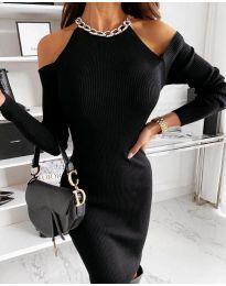 Дамска рокля в черно - код 0300