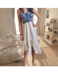 Атрактивна дамска рокля в бяло - код 0717