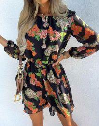 Стилна дамска рокля - код 9275 - 1