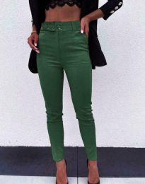 Дамски панталон в зелено - код 9059