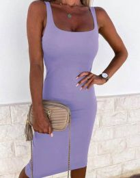 Елегантна рокля в лилаво - код 8899