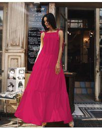 Ефирна дълга рокля в циклама - код 1105