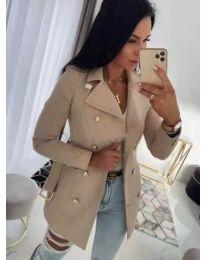 Дамско палто в бежово - код 6061