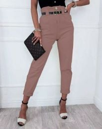 Елегантен дамски панталон в розово - код 4655