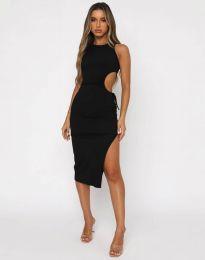 Атрактивна дамска рокля в черно - код 11937