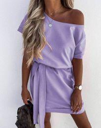 Дамска рокля в светлолилаво - код 6737