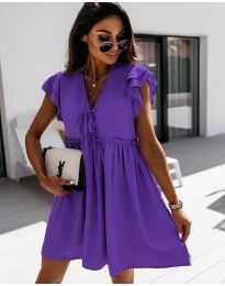 Свободна рокля в  тъмно лилаво - код 2093