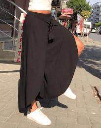 Атрактивна пола-панталон в черно - код 0651