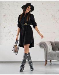 Дамска рокля в черно - код 9601