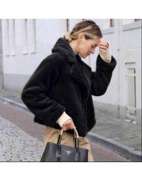 Дамско късо палто в черно - код 164