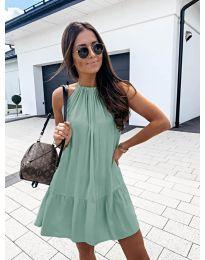 Феерична рокля в цвят мента - код 632