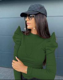 Стилна дамска блуза в зелено - код 2838