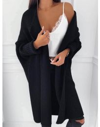 Плетена жилетка в черно - код 4412