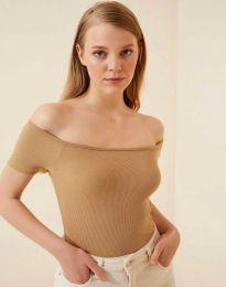 Дамска тениска в капучино - 13010