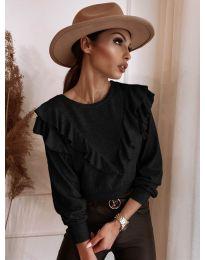 Елегантна блуза в черно - код 7200