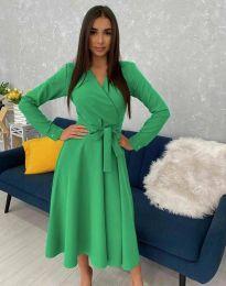 Дамска рокля  в зелено - код 0576