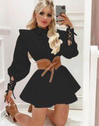 Къса атрактивна рокля в черно - код 44589