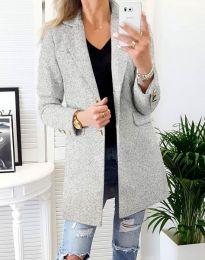 Дамско палто в сиво - код 4679