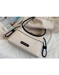 Атрактивна дамска чанта в цвят шампанско - код B493