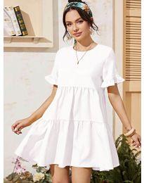 Свободна дамска рокля в бяло - код 0033