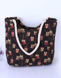 Плажна чанта в черно - код B461