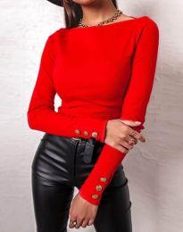 Дамска блуза в червено - код 11565