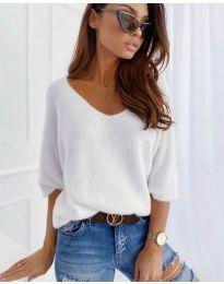 Дамска блуза в бяло - код 901