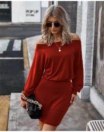 Дамска рокля в червено - код 4447