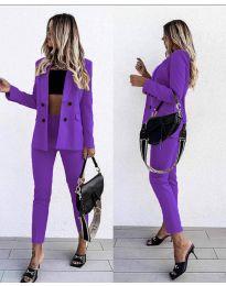 Дамски комплект в лилаво - код 5611