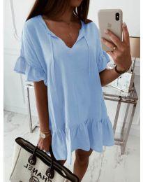 Свободна рокля в светло синьо - код 559