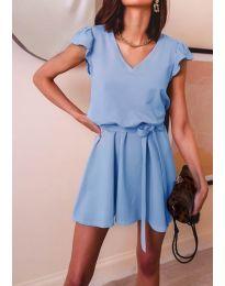 Изчистена рокля в  светло синьо - код 5551