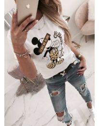 Дамска тениска с принт Мики Маус - код 272