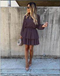 Елегантна рокля в черно - код 7723